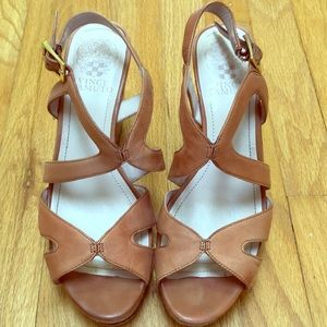 Comfy Tan Vince Camuto Wedges
